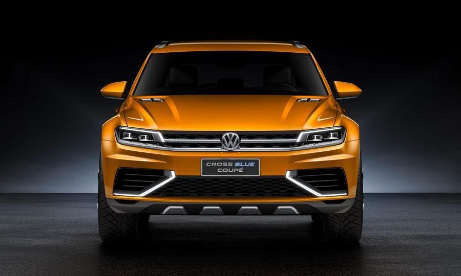 Volkswagen Cross blue coupe