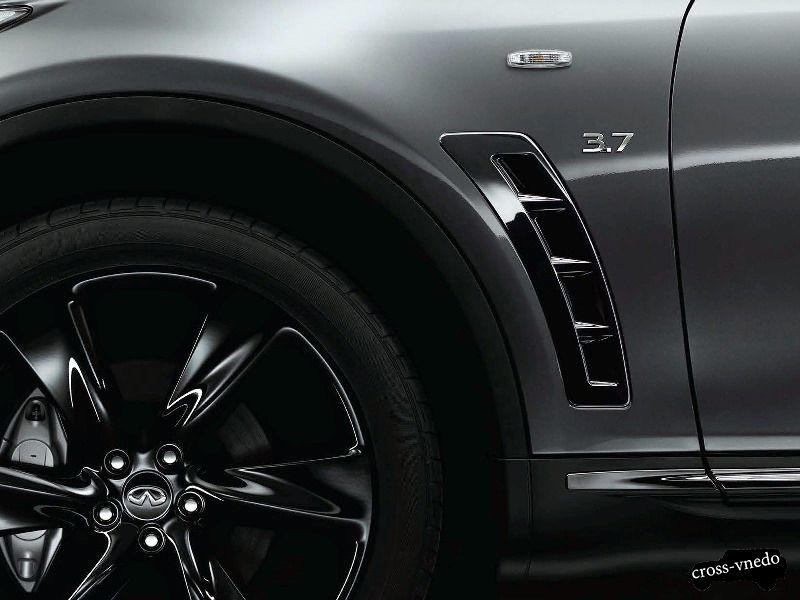 Дизайн колесных арок Nissan Infinity QX70