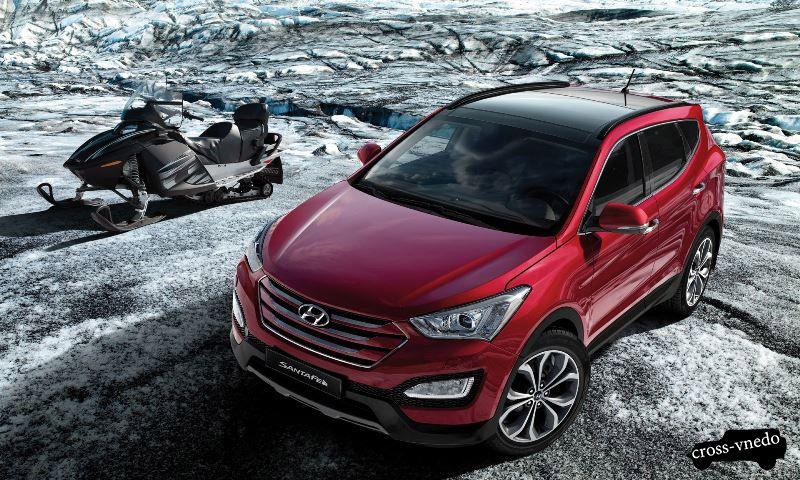 Обновленный автомобиль Hyundai santa fe 2015