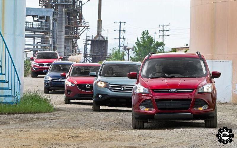 Несколько паркетников на одной фотке