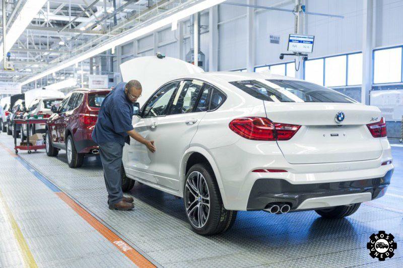 Производство BMW X4 редкие кадры