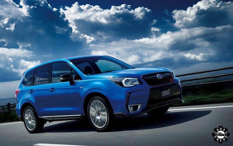 Синий Subaru Forester нового 2015 года
