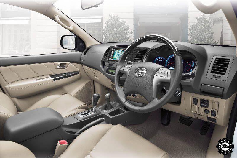 Toyota Fortuner 2015 приборная панель салона
