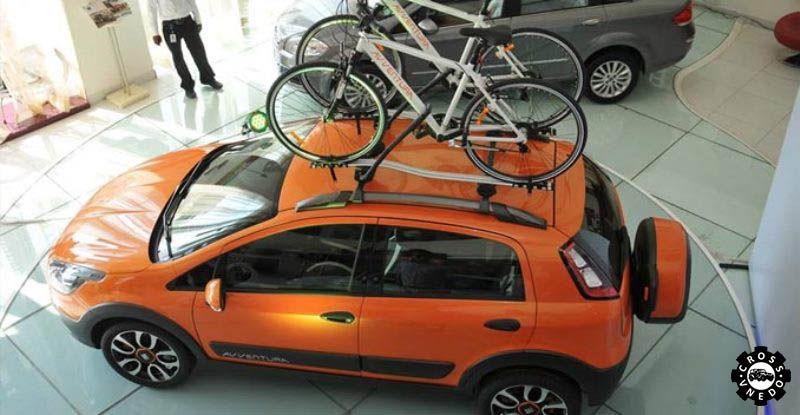 Fiat Avventura с велосипедами на крыше