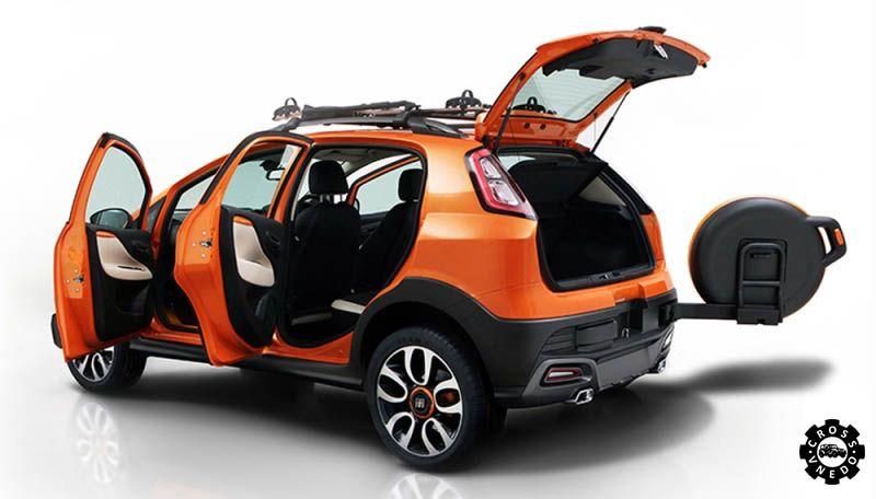 Кроссовер Fiat Avventura с открытыми дверьми