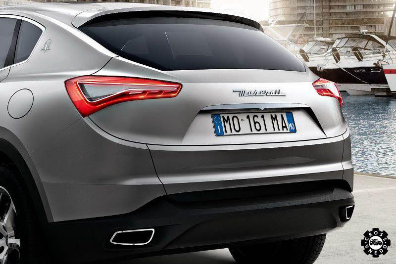 Maserati Kubang вид сзади