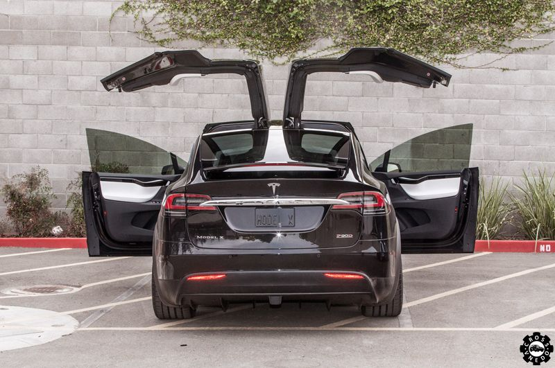 tesla model X wings